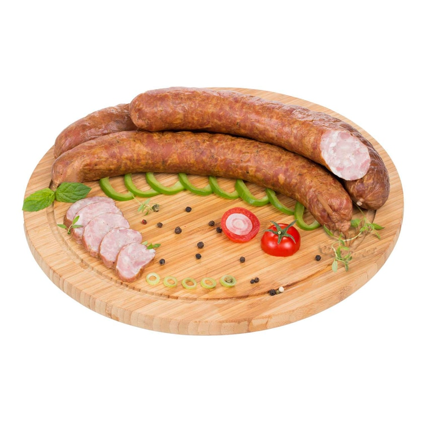 Waldfurter Metzgerwurst- Grobe, geräucherte, traditionelle Wurst im Naturdarm 600g