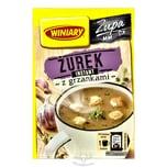 """Winiary """"Zurek"""" Saure Mehlsuppe Instant mit Croutons 15g"""