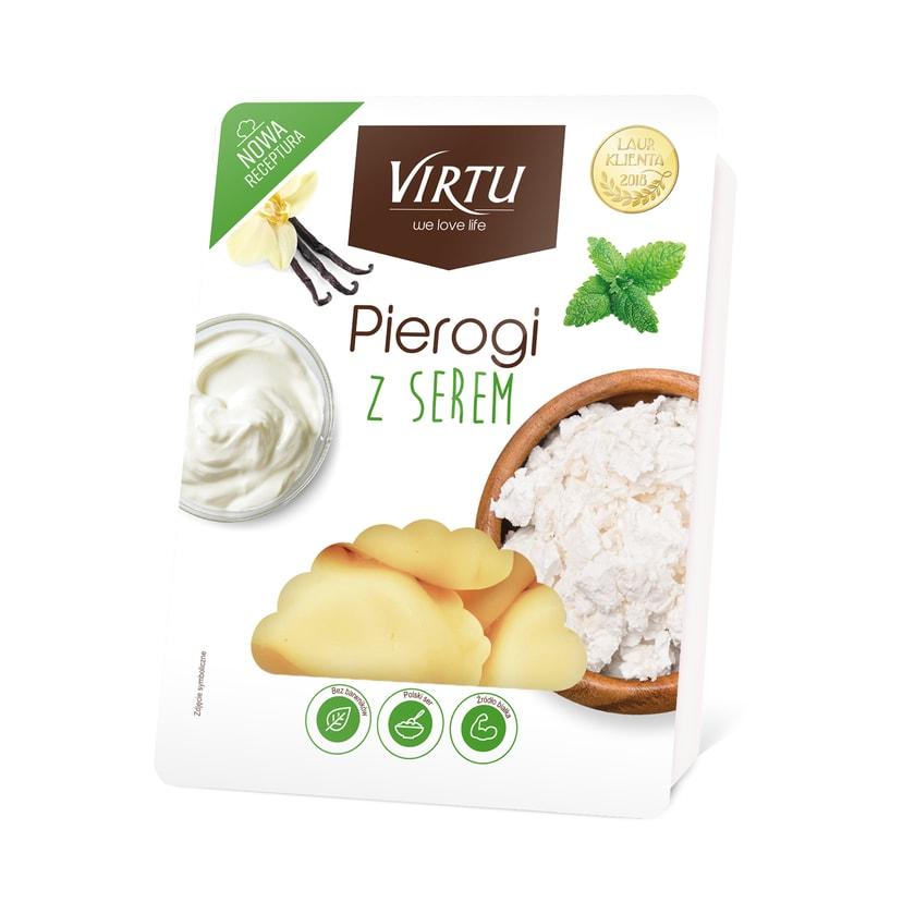 Virtu Pierogi- polnische Maultaschen mit Quarkfüllung 400g
