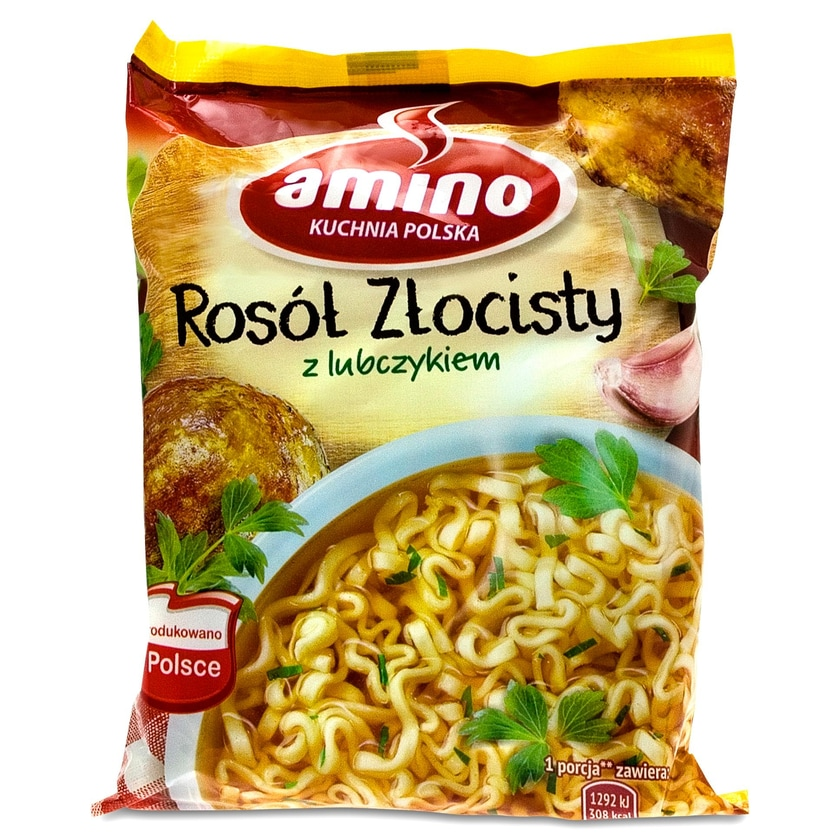 Amino Goldenes Hühnchen Instant Hühnerbrühe mit Liebstöckel 57g