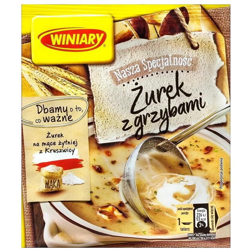 """Winiary """"Zurek"""" Saure Mehlsuppe mit Pilzen 49g"""