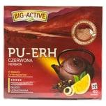 Big- Activ Roter Pu-Erh-Tee mit Zitronen-Geschmack 40 Teebeutel