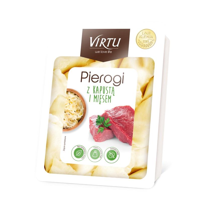 Virtu Pierogi- polnische Maultaschen mit Kohl- & Fleischfüllung 400g