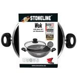 STONELINE® Wok 32 cm, mit Glasdeckel