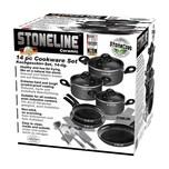 STONELINE® CERAMIC Kochgeschirr-Set, 14-tlg., Keramik-Beschichtung, mit Glasdeckeln