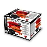 STONELINE® Aluguss Cocotte-Bräter-Set, 3-tlg., mit Deckeln mit Aroma-Regen
