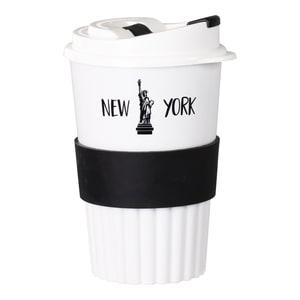 Natural Line® Bio Coffee-to-go Becher weiß/schwarz 350 ml