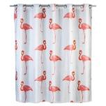 WENKO Anti-Schimmel Duschvorhang Flamingo Flex