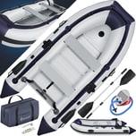 KESSER Schlauchboot bis 4 Personen 2 Sitzbänke & Paddeln Außenbordmotor geeignet