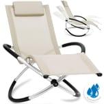 KESSER Relaxliege Liegestuhl faltbar ergonomisch wetterfest 180 kg Belastung