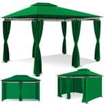 KESSER Pavillon 3x4m mit Seitenwänden mit Reißverschlüssen UV Schutz