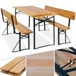 KESSER Bierzeltgarnitur mit lehne & breiter Tisch 170x70cm