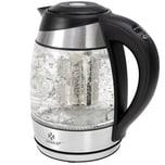 KESSER Edelstahl Wasserkocher 2200W Warmhaltefunktion Farbwechsel mit Teeinsatz