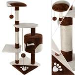KESSER Kratzbaum 5Farben verfügbar Weiches Plüsch mit Kuschel Spielmöglichkeiten
