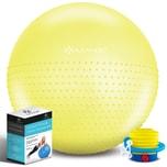 KESSER Gymnastikball mit Luftpumpe Pumpe - Dicker Yogaball BPA-Frei Massageball