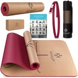 KESSER Yogamatte Kork nachhaltige Gymnastikmatte extra dick ohne Schadstoffe