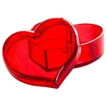 Sollys Clara Schmuckdose Dose mit Deckel Herzform Rot
