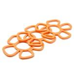 Oishii Heatmaster+ 3er Set Topfuntersetzer hitzebeständig Flower orange
