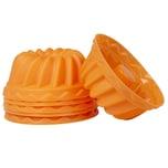 Oishii Mini Gugelhupf Kuchenform Silikonförmchen Orange 6er-Set