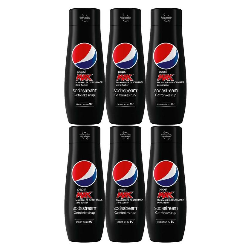 SodaStream Pepsi MAX Sirup 440 ml 6er