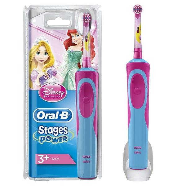 Oral-B Stages Power Elektrische Zahnbürste für Kinder Motiv Disney-Prinzessinnen