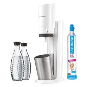 SodaStream Crystal 2.0 Wassersprudler weiß inkl. 2. Glaskaraffe