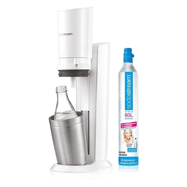 SodaStream Crystal 2.0 Wassersprudler weiß inkl. 2 Glaskaraffen