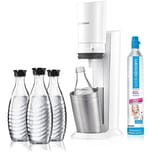 SodaStream Crystal 2.0 Wassersprudler weiß inkl. 3 Glaskaraffen