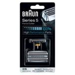 Braun Kombipack 51S Elektrorasierer Ersatzscherteil Silber
