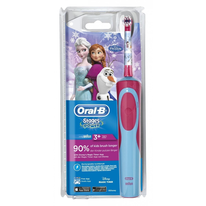 Oral-B Stages Power Kids CLS Elektrische Zahnbürste mit Figuren aus Die Eiskönigin– Völlig unverfroren