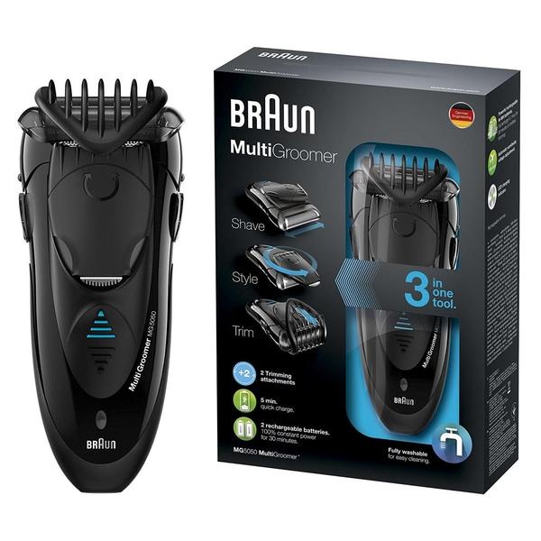 Braun Multigroomer MG5050 Schwarz Bartschneider, Rasierer und Trimmer
