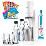 SodaStream Crystal 2.0 Promopack Wassersprudler weiß