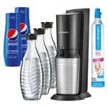 SodaStream Crystal 2.0 Wassersprudler schwarz +3 Karaffen +2 PEPSI