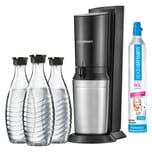 SodaStream Crystal Plus Wassersprudler inkl. 3 Glaskaraffen 0,6l