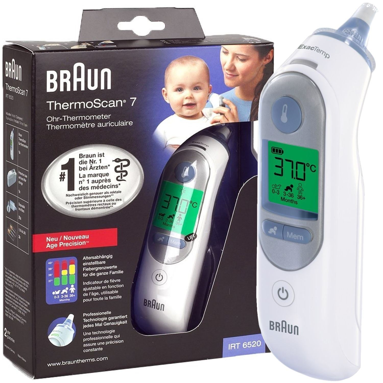 Braun IRT 6520 ThermoScan 7 MNLA Infrarot Ohr-Thermometer