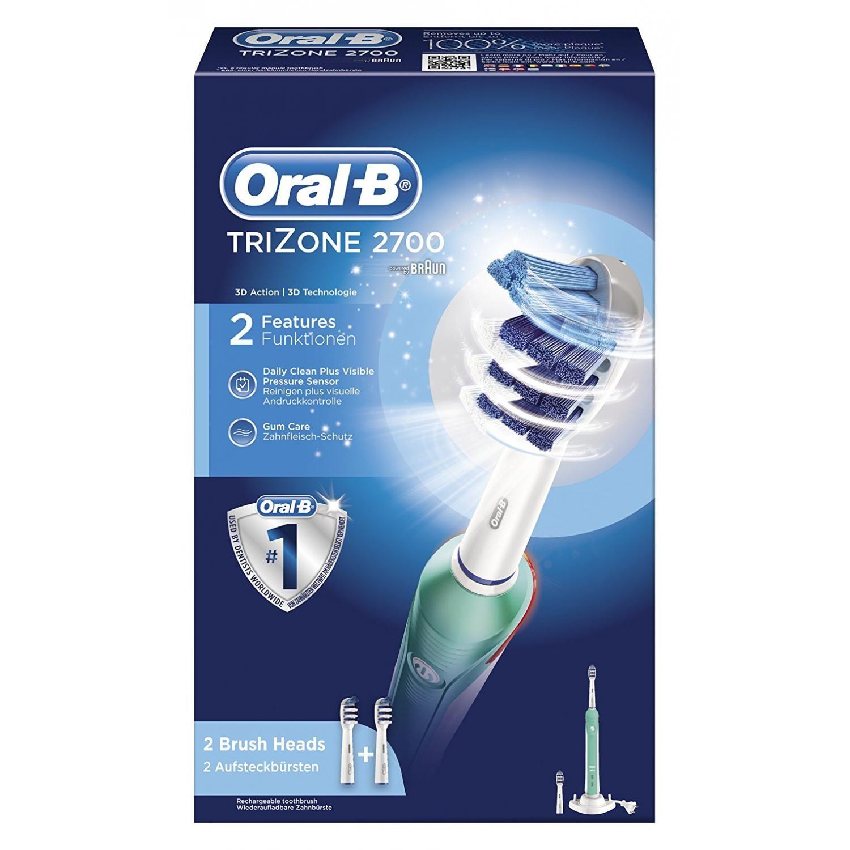 Oral-B TriZone 2700 Elektrische Zahnbürste inkl. 2 Aufsteckbürsten