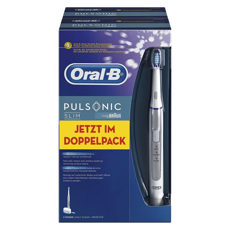 Oral-B Pulsonic Slim Elektrische Schallzahnbürste Duopack 2 Handstücke