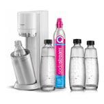 SodaStream Duo White Wassersprudler inkl. 3 Glasflaschen + 1 PET Flasche