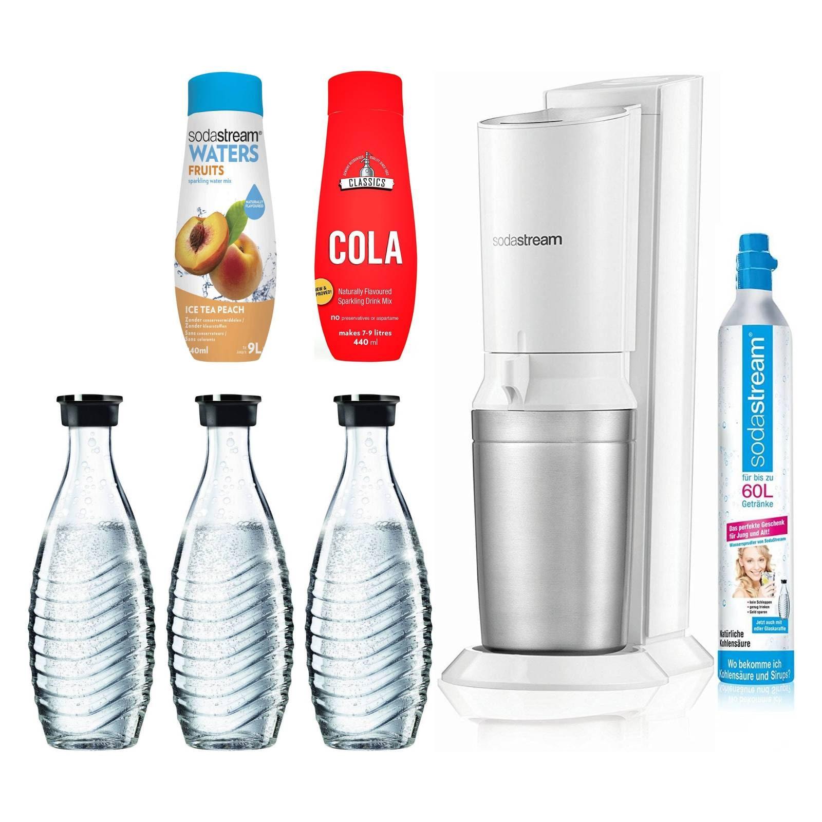 SodaStream Crystal 2.0 white inkl. 3. Glaskaraffe Wassersprudler