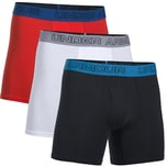 Under Armour Charged Cotton Stretch 6'' Boxerjock 3 Pack Boxershorts Herren