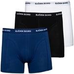 Björn Borg Solid Essential 3er Pack Boxershorts Herren