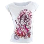 Natural Born Yogi T-Shirt Groovy Ganesha weiß