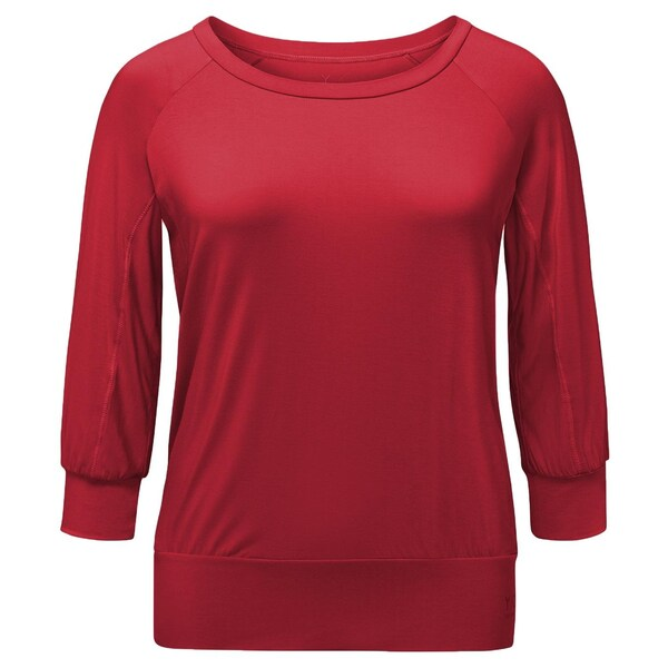 Curare Yoga Curves Collection 3/4 Shirt cherry