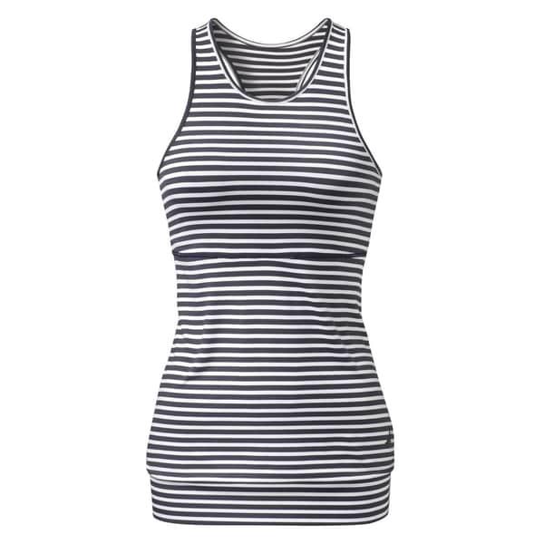 Curare Top mit Kellerfalte stripes blue/white