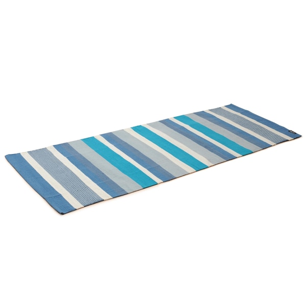 Yogishop Yogateppich cotton rug striped ocean