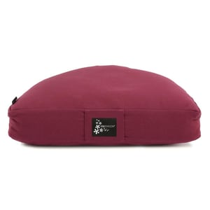 yogistar Meditationskissen Halbmond bordeaux
