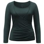 Curare Yoga Curves Collection Wrap-Shirt petrol