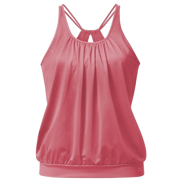 Curare Yoga Curves Collection Spaghetti-Top himbeere