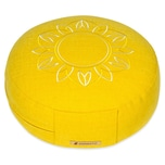 Yogishop Meditationskissen Darshan Neo Flower rund lemon