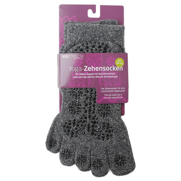yogistar Yoga Zehensocken graphit